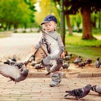 Рома и голуби :: Татьяна Лядова