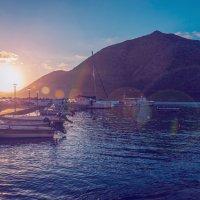 Утро в порту Бали,Крит. :: Олег Загорулько