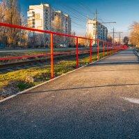 Красный забор :: Константин Бобинский