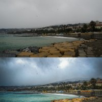 Дождливый Сан-Ремо (До - После) :: Максим Дорофеев