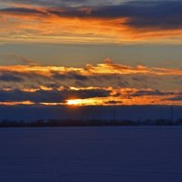 Закат над Северной Двиной :: Наталья Левина