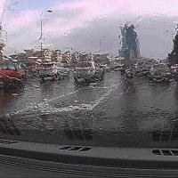 дождь через стекло автомобиля. :: Пётр Беркун