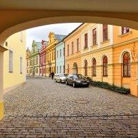 Улица Сукеницка в г. Градец-Кралове (Чехия) :: Денис Кораблёв