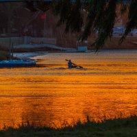 Тель Авив.Закат на реке Яркон :: Валерий Цингауз