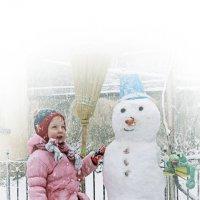 """""""Слепила в марте я снеговика..."""" :: Валерий Басыров"""
