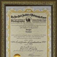 Сертификат об окончании NYIP :: Сергей Цвиров
