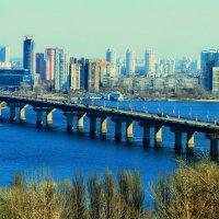 Вид на мост Патона :: Ростислав