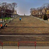 от бульвара к низу лестница сбегает прямо к порту... :: Александр Корчемный