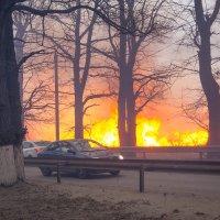 пожар на поле :: ira