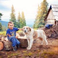 Детство в Карпатских горах :: Svetlana Nezus