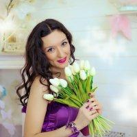 Весенняя фотосессия в студии Аквамарин :: марина алексеева