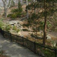 Заборчик змейкой и дальше мост через ручей... :: Юрий Поляков