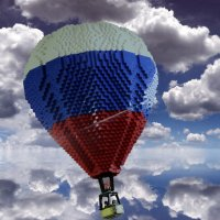 На большом воздушном шаре ... :: Лариса Корж