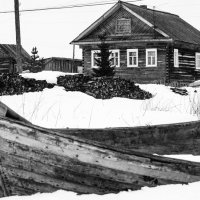 Поморская деревня Поньгома на берегу Белого моря :: Елена Решетникова