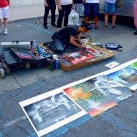 Уличный художник :: Наталья (Nata-Cygan) Цыганова