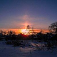Закат в морозный вечер. :: Наталья Петрушова