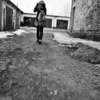 Уходящая в даль :: Полина Слесарева