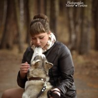 Анна с Сибирской Хаски :: Мария Туркина