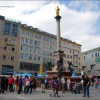 Колонна Марии на площади Мариенплац. :: Anna Gornostayeva
