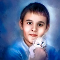 Кирилл и котёнок :: Елена Сохарева