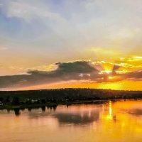 Енисей на закате. :: юрий Амосов