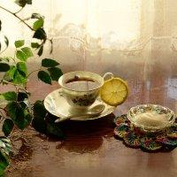 Волшебный чай с лимонным солнышком.... :: galina tihonova