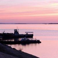 Розовый вечер на Волге :: Ната Волга