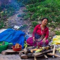 продавщица жареной кукурузы :: Светлана Фомина