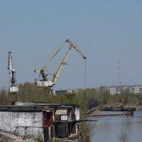 Краны в порту. :: Олег Афанасьевич Сергеев