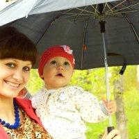 С мамочкой под зонтиком! :: Вероника Подрезова
