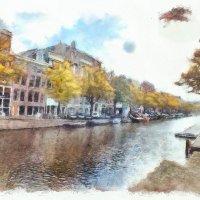 Набережная Амстердама. :: Виктор Никаноров