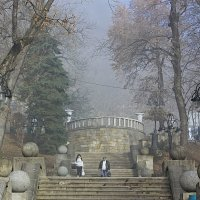 Лестница в парк :: Леонид Сергиенко