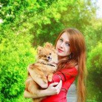 Дама с собачкой :: Наталья Золотарева