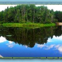 Облако упало прямо в воду, В озера серебряного гладь.... :: Людмила Богданова (Скачко)