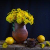 кофе и медовые одуванчики с лимоном. :: зоя полянская