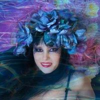 И в озере том чистом Колдунья синих роз жила... :: Ева Олерских