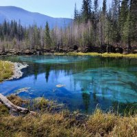 Голубое гейзеровое озеро :: Виктор Ковчин