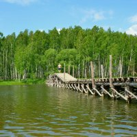Деревянный мост :: Милешкин Владимир Алексеевич