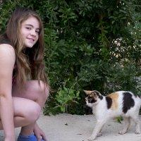 Линка и кошка :: Александр Деревяшкин