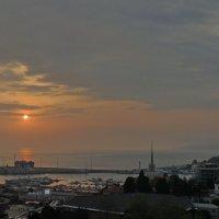 закат над портом :: Алексей Меринов