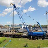 Кран EDK-1000/2 на замене вагонных замедлителей :: Вячеслав Крутецкий