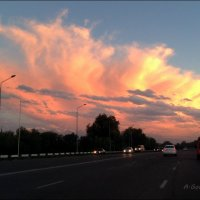 Один закат не похож на другой, краски неба не бывают одинаковыми. :: Anna Gornostayeva