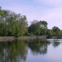 Вечером у реки в г. Гвельф (Канада, пров. Онтарио) :: Юрий Поляков