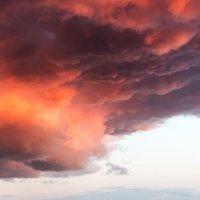 Вечер 09 июня. Облачное небо над Гусинобродским шоссе, Новосибирск. :: Рена Cibella Рамазанова
