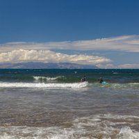 Остров Ла Гомера с шапкой из облаков :: Александр Манько