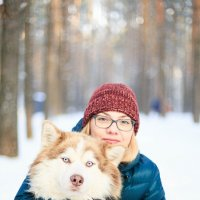 Siberian Husky и мама :: Ekaterina Kuznecova