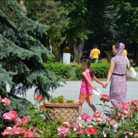 В парке. :: Anna Gornostayeva