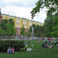 Пикник возле стен Кремля :: Евгений Кривошеев