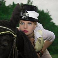 Верхом на лошади :: Юлия Астратенко