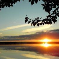 Закат на озере Кум-Куль. :: Светлана Иванчина